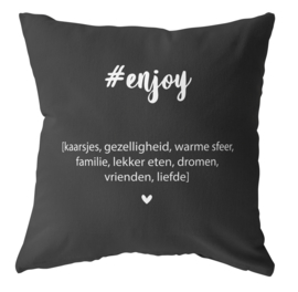 Label-R buitenkussen enjoy - zwart