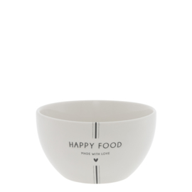 Bastion Collections schaal bol happy food - zwart
