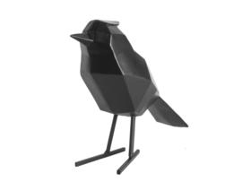 Present Time vogel metaal l - zwart