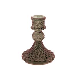 MrsBloom kaarsenhouder glas xs - grijs