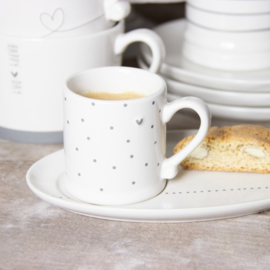 Bastion Collections bord ovaal espresso - grijs