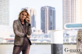 G-maxx blouse basic - donkerbruin