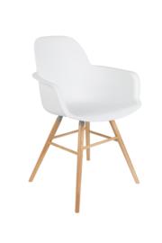 Zuiver stoel met armleuning - wit