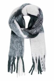 Zusss sjaal geruit met franjes - groen