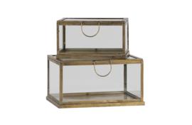 BePureHome  glazen box metaal l
