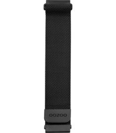 Oozoo smartwatch losse band metaal - zwart