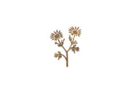 Nkuku bloem metaal - antiek brass