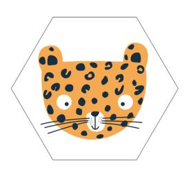 Label-R hexagon leopard - geel