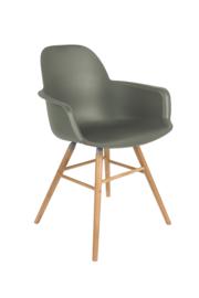 Zuiver stoel met armleuning - groen
