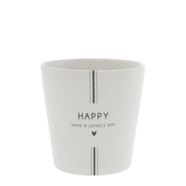 Bastion Collections beker happy nw - zwart
