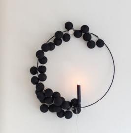 Cotton ball lights - zwart