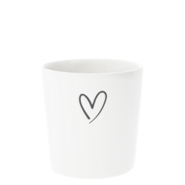 Bastion Collections beker heart nw - zwart