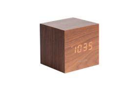 Karlsson cube alarm klok - bruin