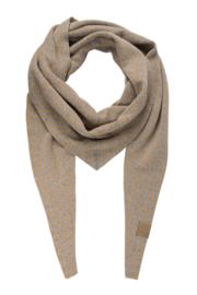Zusss puntsjaal - grijs/camel