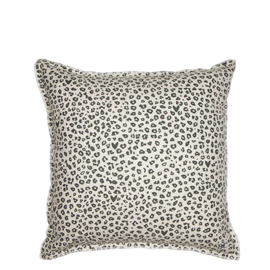 Bastion Collections kussenhoes leopard - titane
