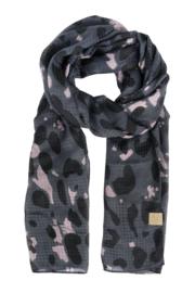 Zusss sjaal met print - zwart