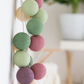 Cotton ball lights - forest fruit