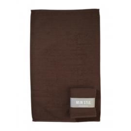 Mijn Stijl handdoek - bruin