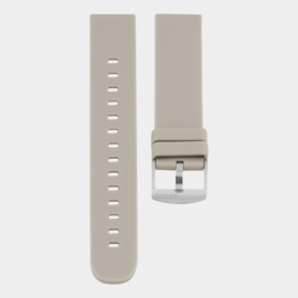 OOZOO smartwatch losse band - taupe/zilver