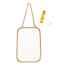 Spiegeltje rechthoek - antiek brass