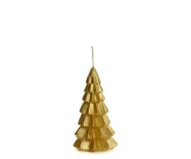 Kaars kerstboom m - goud