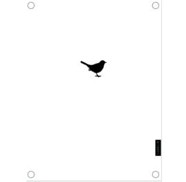 Label-R tuinposter vogel - wit