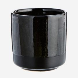 Madam Stoltz aardewerk mok - zwart