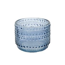 MrsBloom waxinehouder xs - blauw