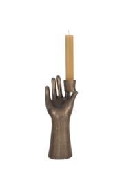 Zusss kandelaar hand - brons