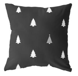 Label-R buitenkussen kerstboom - zwart