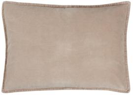 Ib Laursen kussenhoes velvet 70x50 - fog