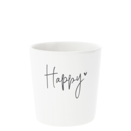 Bastion Collections beker happy - zwart