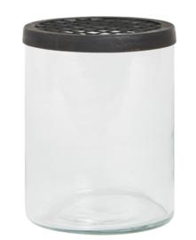 Glas met deksel