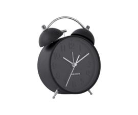 Karlsson alarm klok - zwart