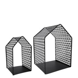Bastion Collections huisje metaal - zwart