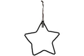 MrsBloom hanger ster l - zwart