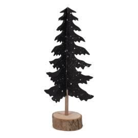 Kerstboom papier - zwart