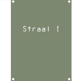 Label-R tuinposter straal - olijfgroen