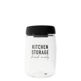 Bastion Collections voorraadpot glas l kitchen storage - zwart