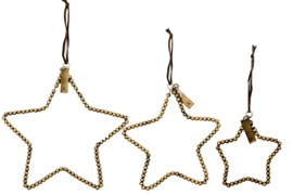 MrsBloom hanger ster s - antiek goud