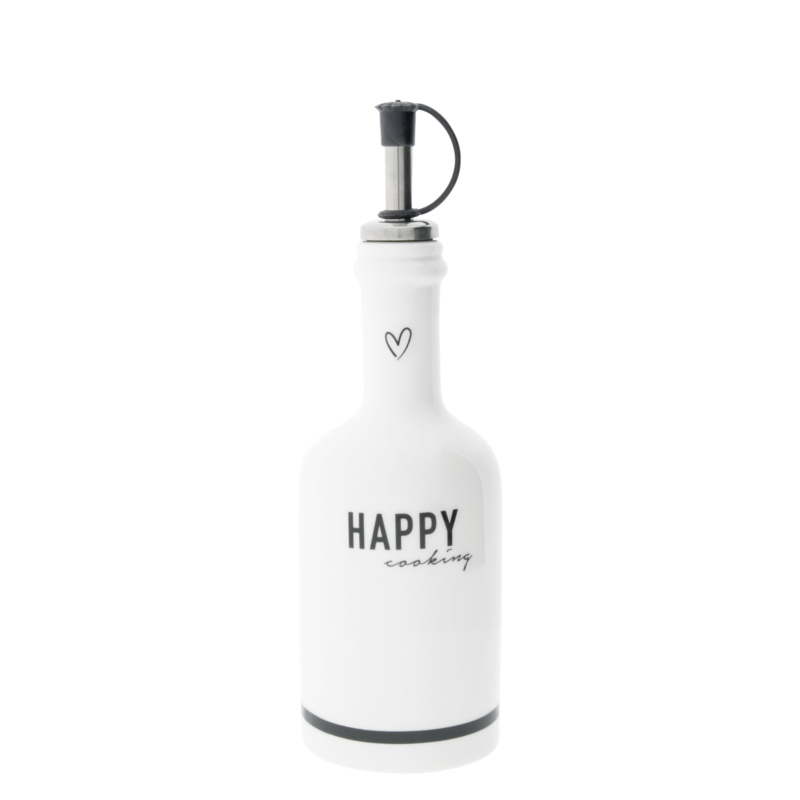 Bastion Collections fles happy cooking - zwart