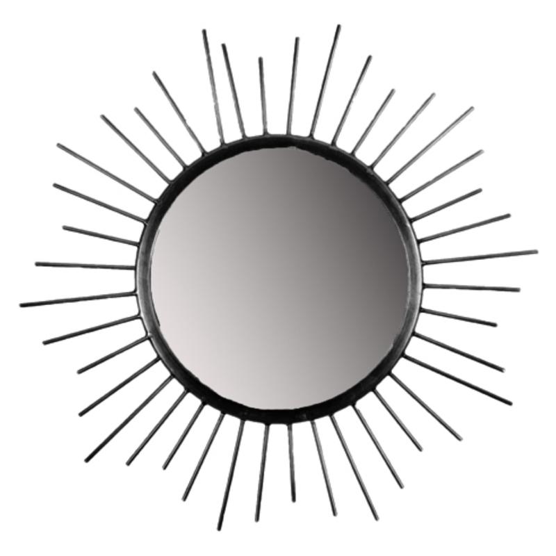 MrsBloom spiegel rond l - zwart