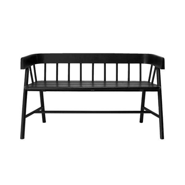 HKliving houten bank - zwart