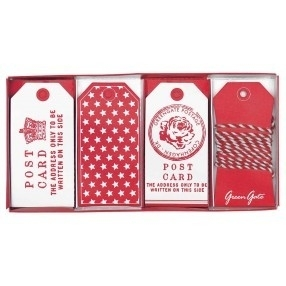 Greengate labels - fay red