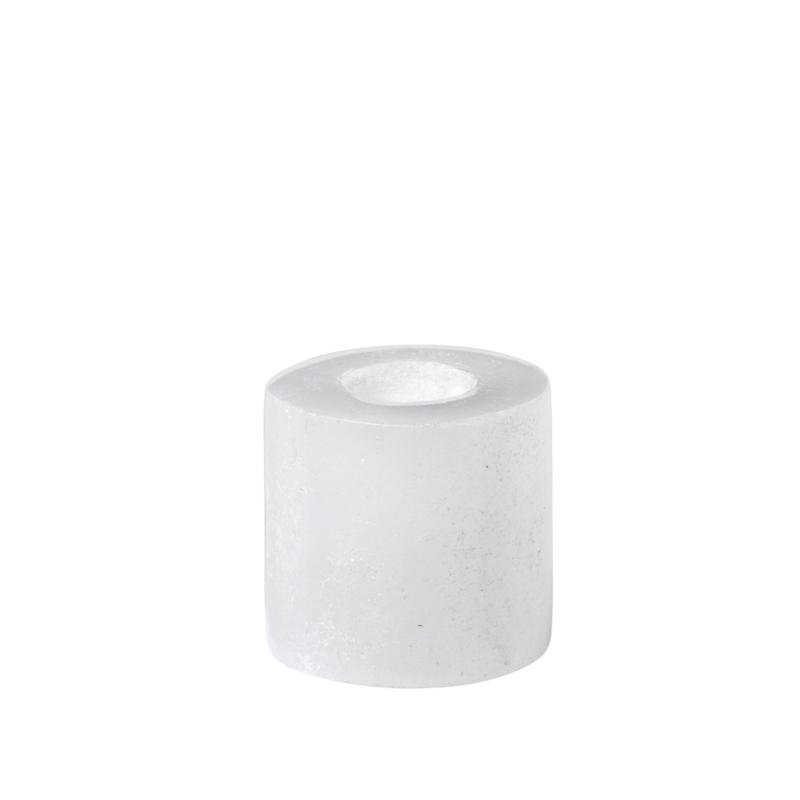 Kaarsenstandaard marmer mini - wit