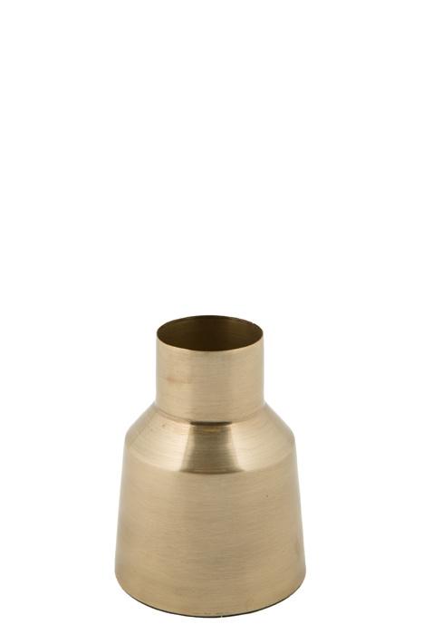 MrsBloom vaas metaal avignon - goud