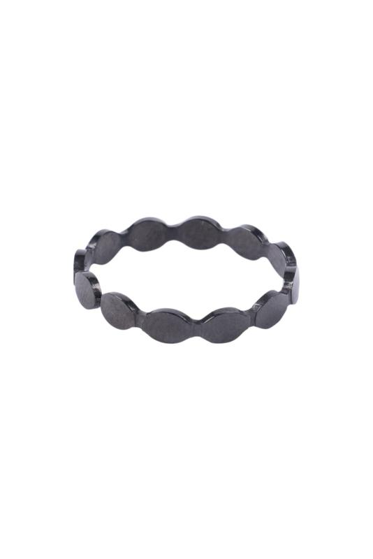 Zusss ring schulp - zwart
