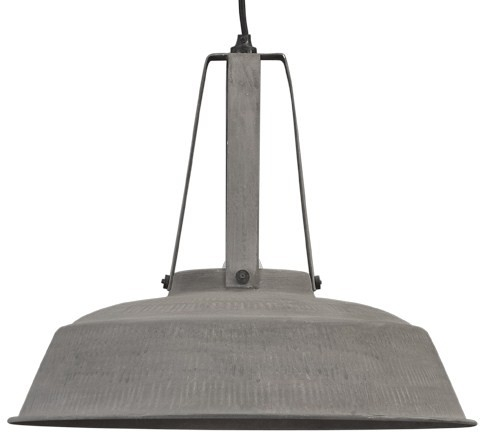 HKliving hanglamp industrieel l - zink