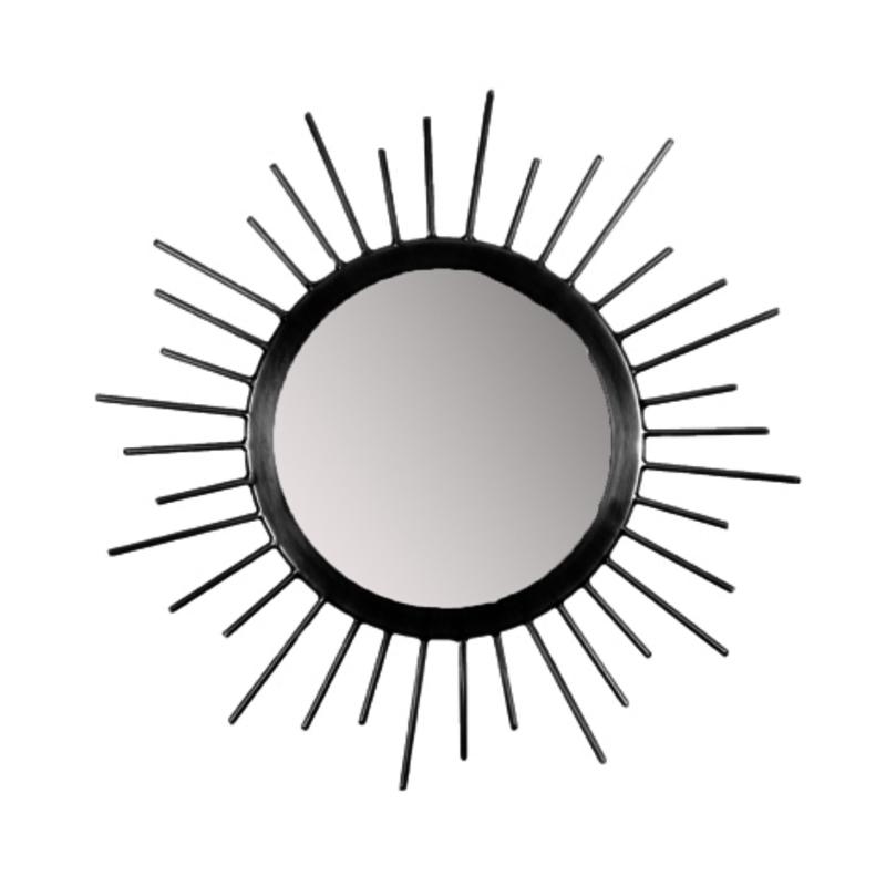 MrsBloom spiegel rond m - zwart