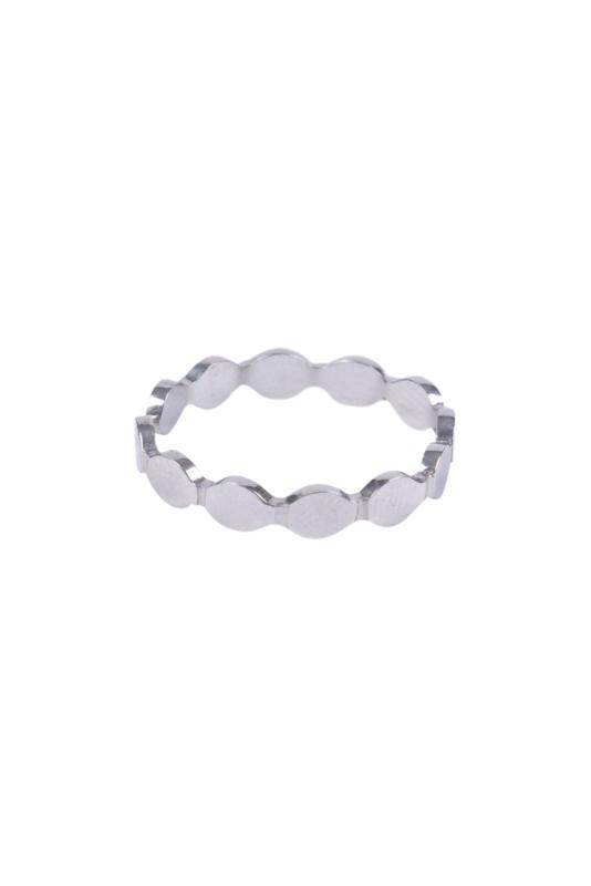 Zusss ring schulp - zilver